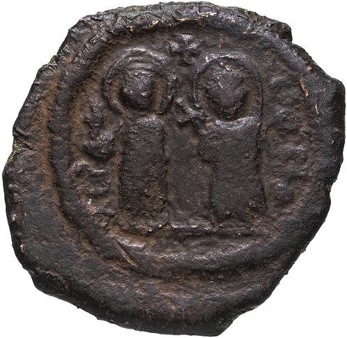 Византийская империя, Юстин II и София, 565-578 гг, фоллис. 8 Пентануммиев Херсо