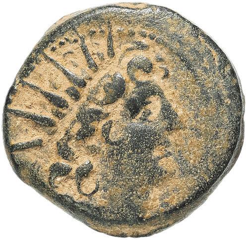 Селевкиды, Клеопатра Тея и Антиох VIII, 125-121 годы до Р.Х., АЕ19.Cleopatra The