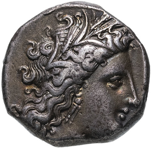 Лукания, Метапонт, 330-290 гг. до н.э., Дидрахма. (Серебро) Lucania, Metapontum.