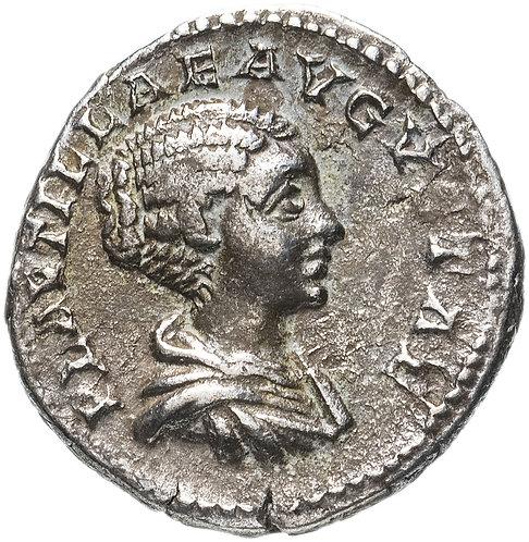 Римская империя, Плавтилла, супруга Каракаллы, 202 год, денарий. Plautilla