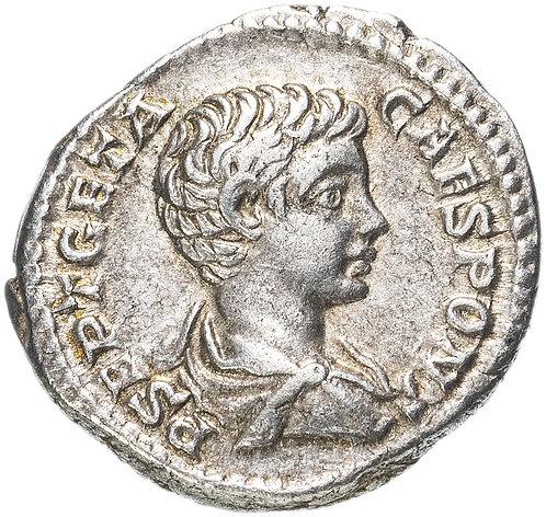 Римская империя, Гета, 209-211 годы, Денарий. (Нобилитата) серебро