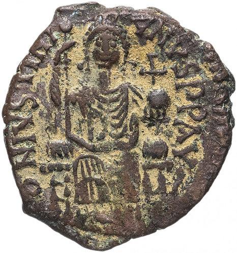 Византийская империя, Юстиниан I, 527-565 годы, полфоллиса. Justinianus I Byzant