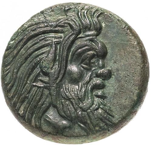 Боспор Киммерийский, Пантикапей, Перисад I, 345-310 годы до Р.Х., Тетрахалк АЕ21