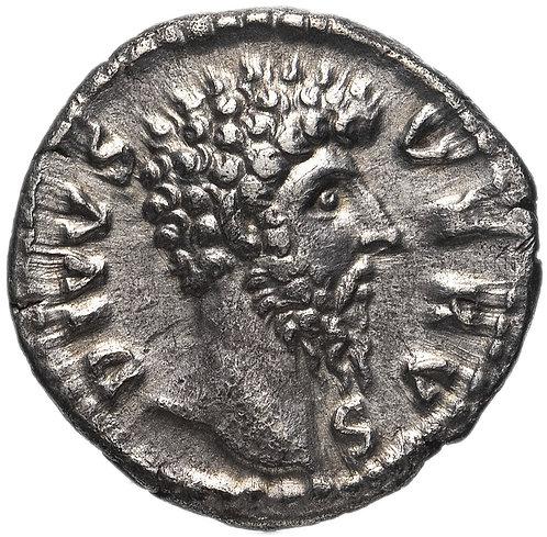 Римская империя, Луций Вер, 161-169 годы, денарий. (Посмертный выпуск) Алтарь.
