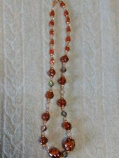 Collier Perles Marrons Transparentes