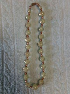Collier Perles Vertes Transparentes
