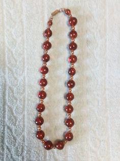 Collier Grosses Perles Marrons