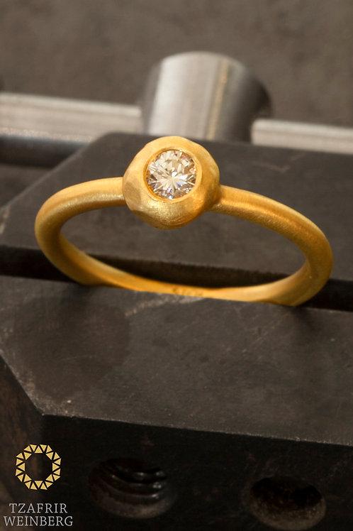 22k Gold ringwith0.20ct diamond - GSI1