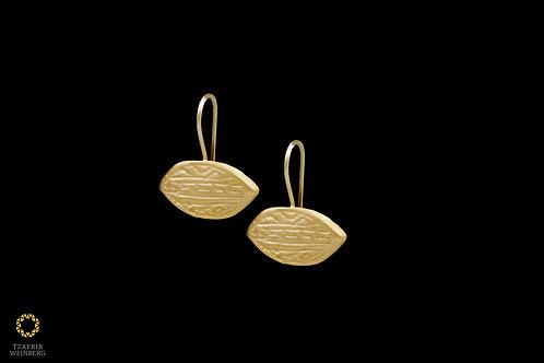 22k Hanging yellow gold earrings