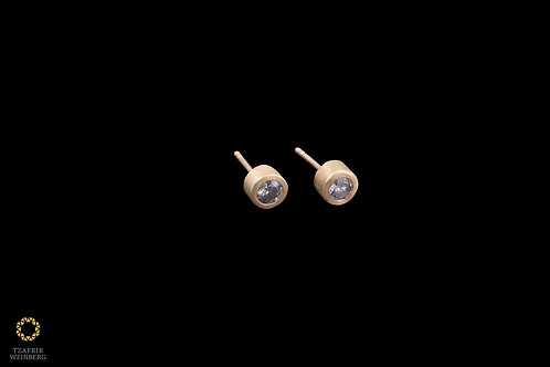 18K Gold earrings with 0.20ct gray diamonds