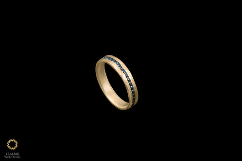 22k gold ring inlaid rose cut diamond 1ct