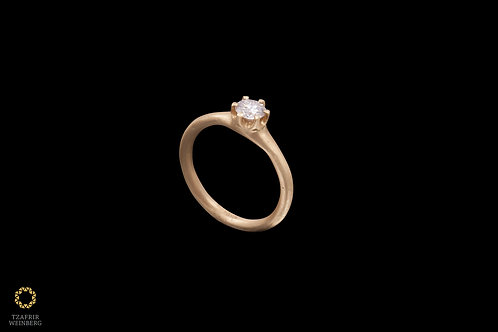 18k Gold ring with 0.40ct solitaire diamond - GSI1