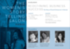 Women's Storytelling Salon : redefining business success - The story of Social Enterprise