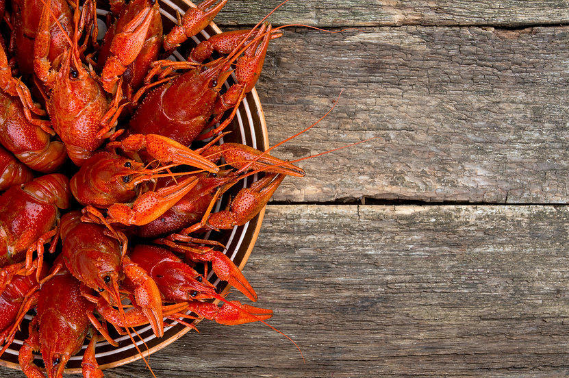 boiled crawfish on wooden surface.jpg