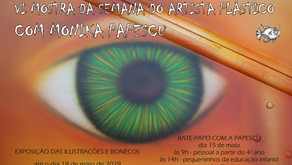 Monika Papescu traz exposição à biblioteca Municipal de Osório/RS