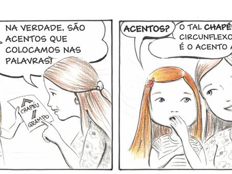 """Escritora Márcia Funke Dieter lança o projeto """"Tirinhas da Aninha"""" em seu site."""