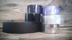 black / silver / lila