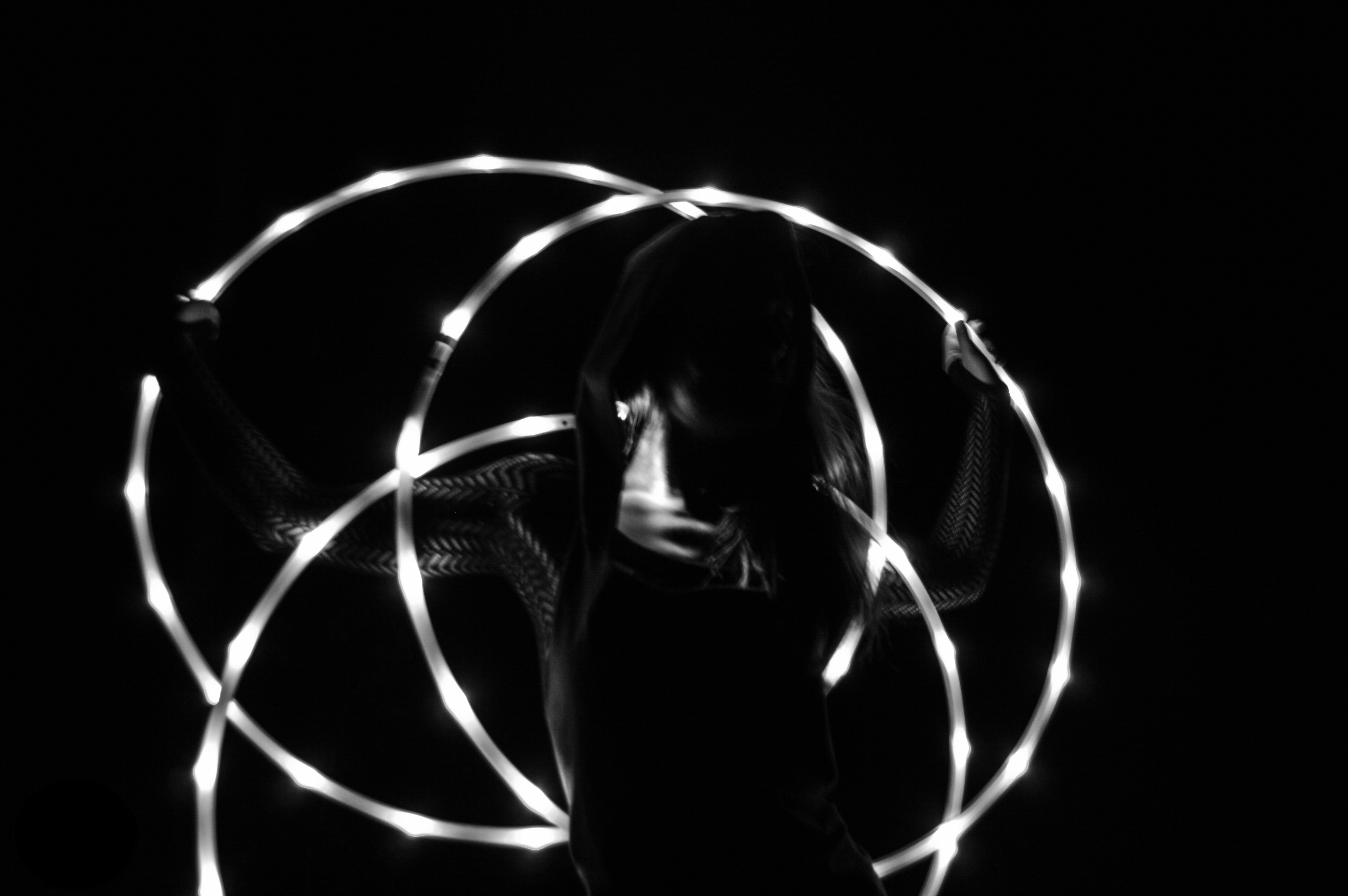 Led hulahoop show