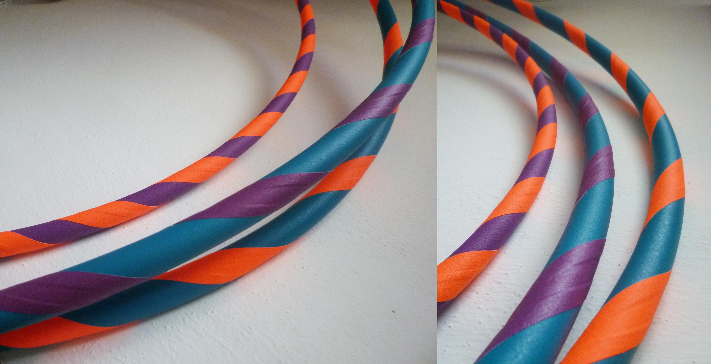 dvojfarebné hulahoopy
