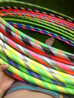 farebné hulahoopy
