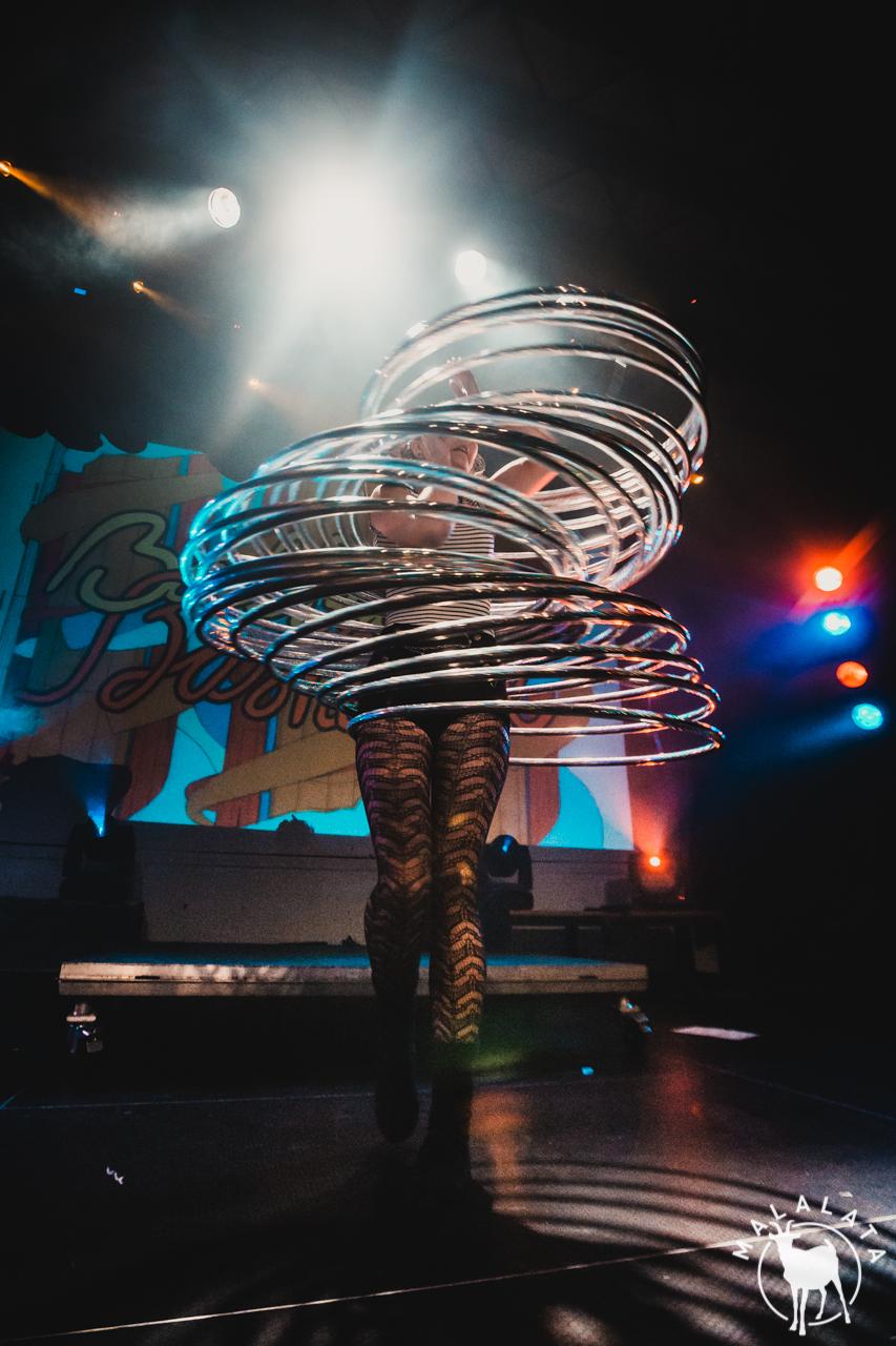 Circus hulahoop show