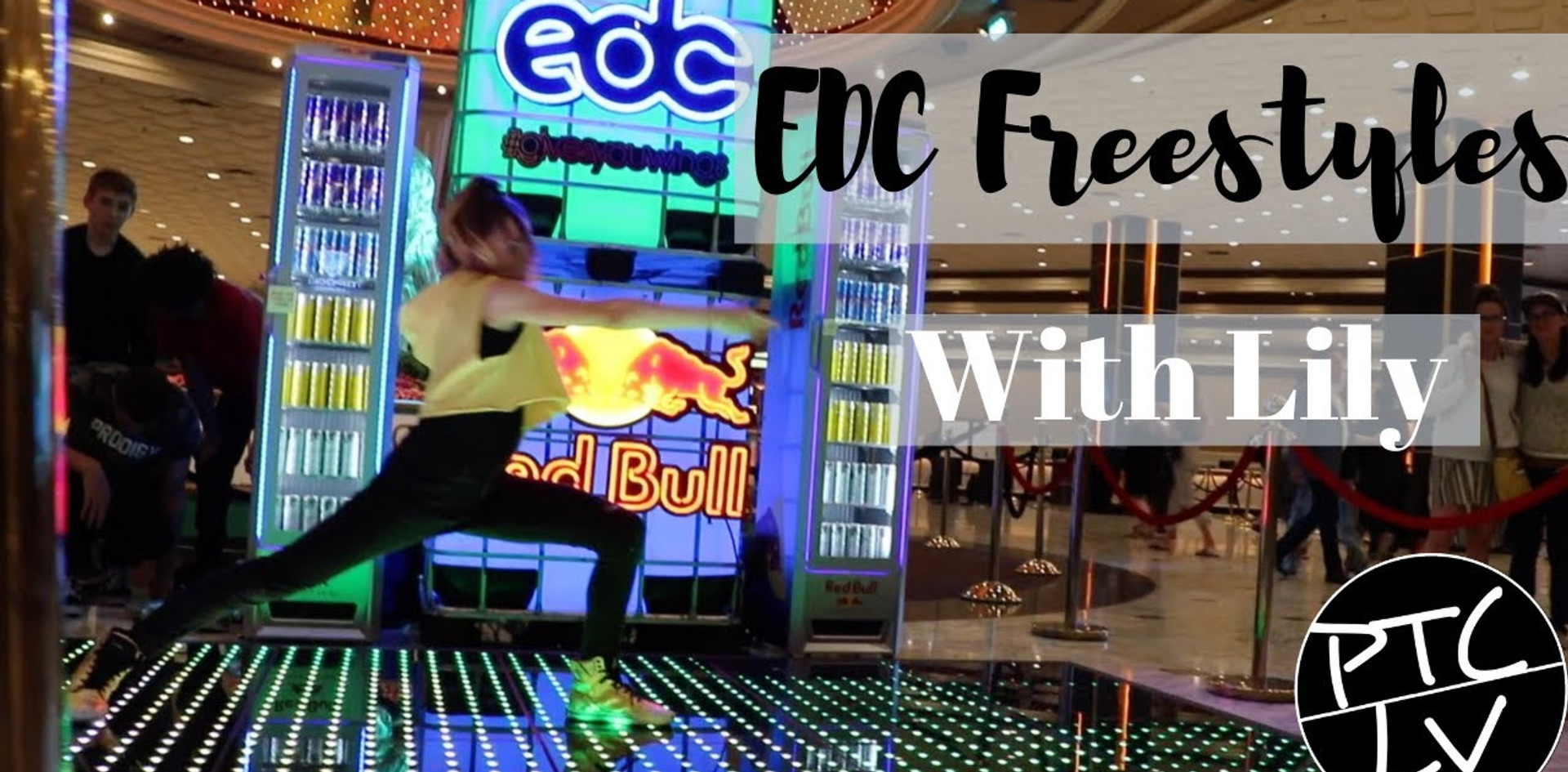 Lily  Goehring Freestyles at EDC Red Bull Event