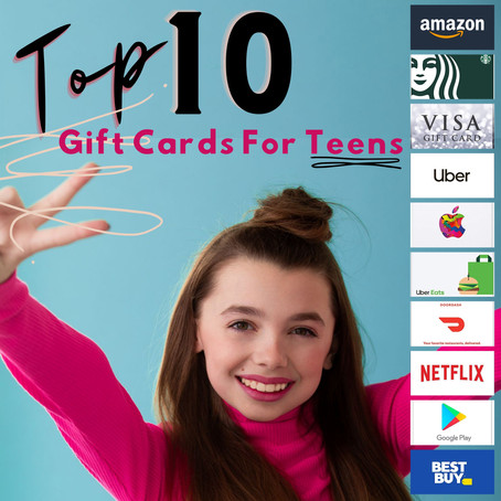 TOP 10 GIFT CARDS FOR TEENS  - #top10