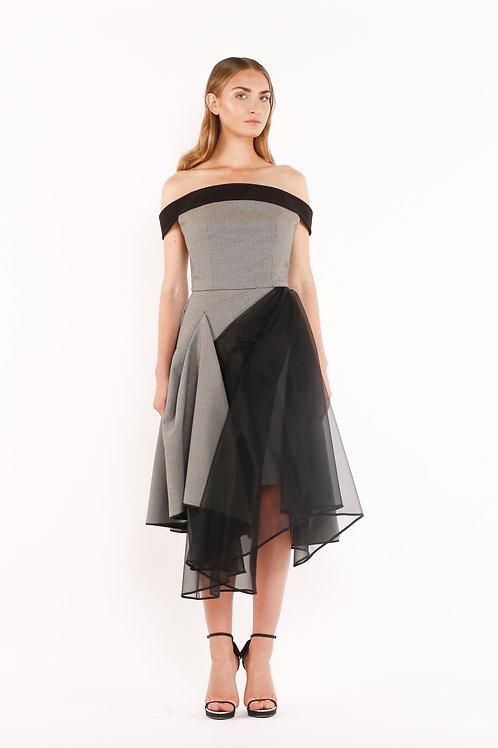 Asymmetrical Band Dress