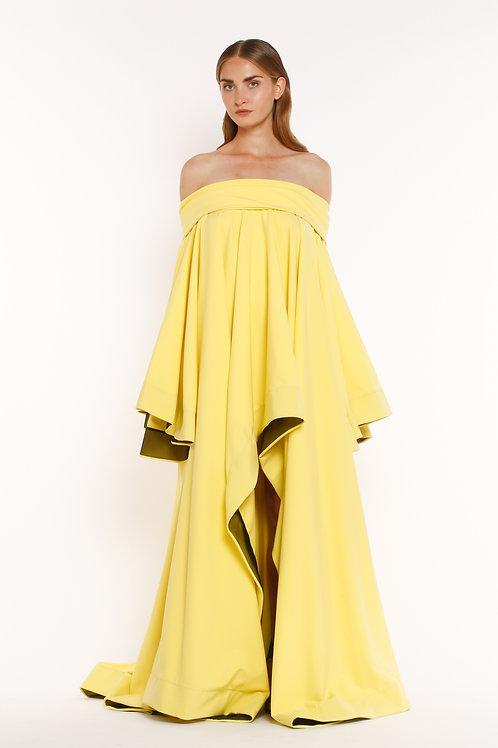 Yellow Chiton Band Dress