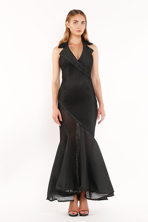 Rever Black Long Dress