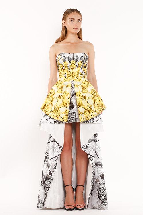 Tafta Print Long Gown