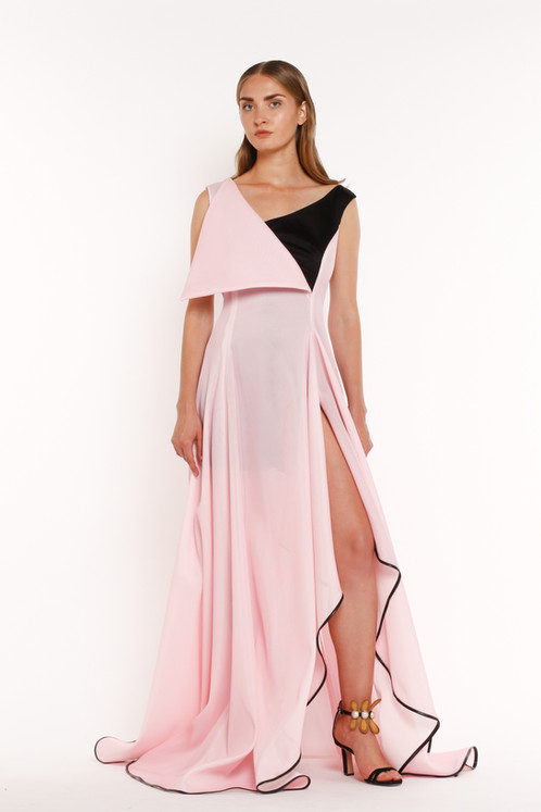 Pink Asymmetrical Gown