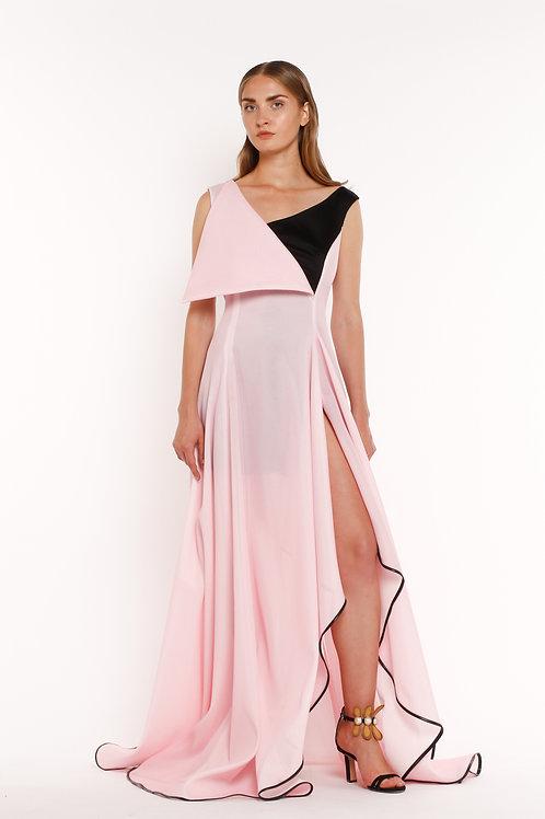 Pink Asymmetrical Gown