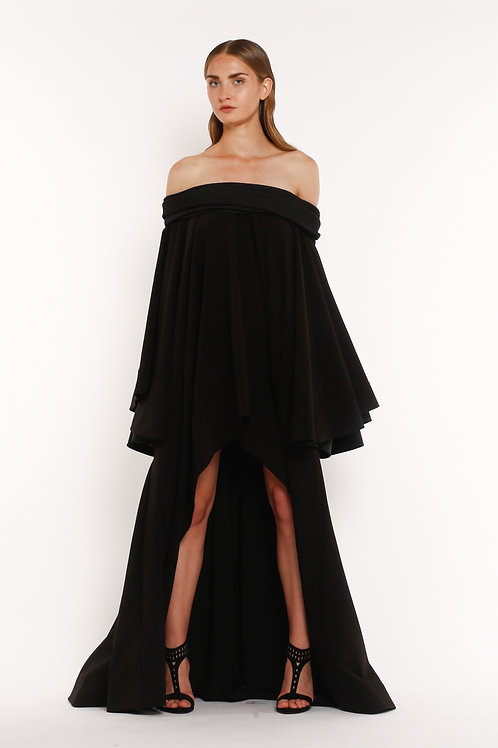 Black Butterfly Band Dress