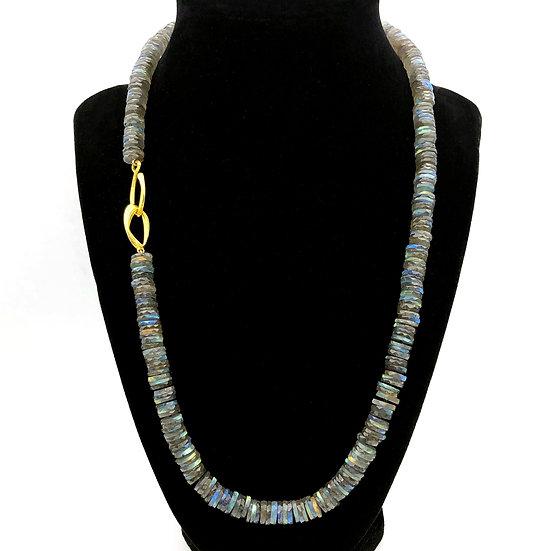 Labradorite Strand Necklace | 18k