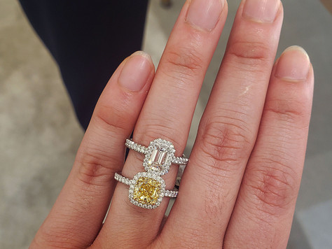 LOOK, MOM! I'M WEARING A $1.2-MILLION-DOLLAR ENGAGEMENT RING!