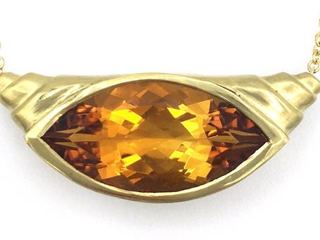 Sweet Promises--Citrine Engagement Necklace