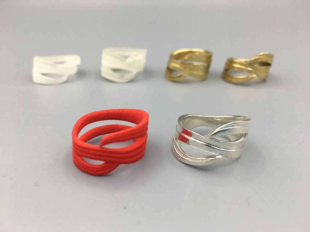 Ribbon Ring Iterations by Original Eve