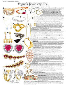 Vogue U.K. British Vogue October 2017 Original Eve Jewelry Original Eve Designs