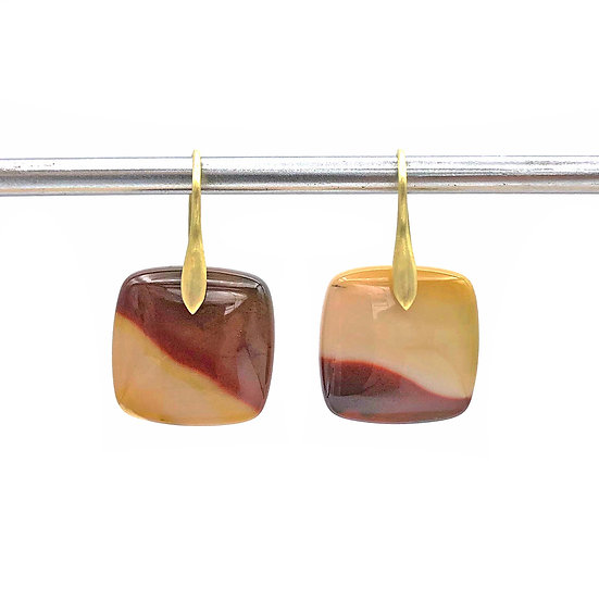 Mookaite Jasper Earrings | 18k Yellow Gold