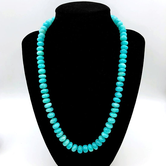 Azores Amazonite Strand Necklace | 18k | 18in
