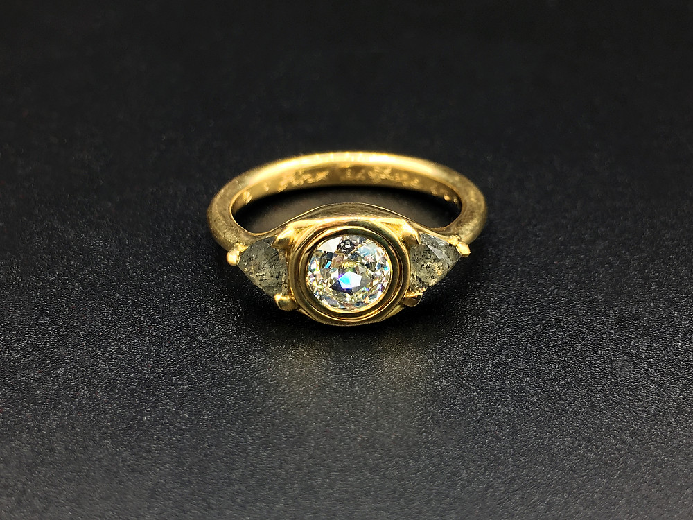Flip Engagement Ring, Old European Diamond
