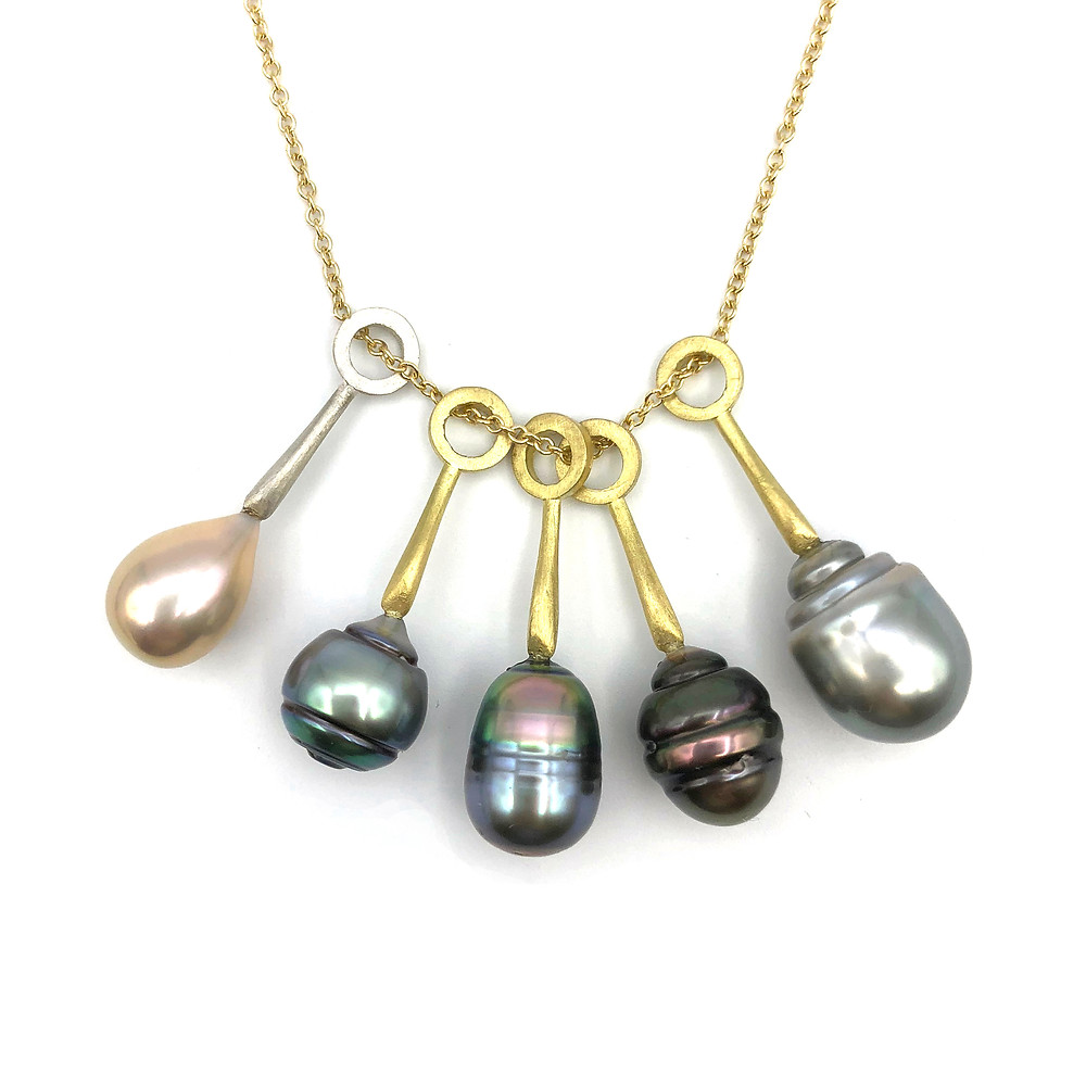 Tahitian Pearl Pendants | 18k Yellow Gold