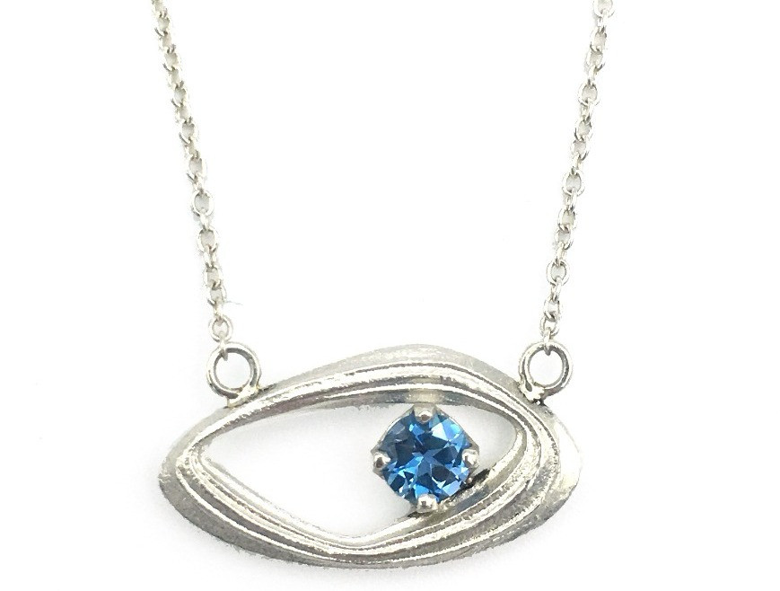 Aquamarine Gemstone with Azores Motif