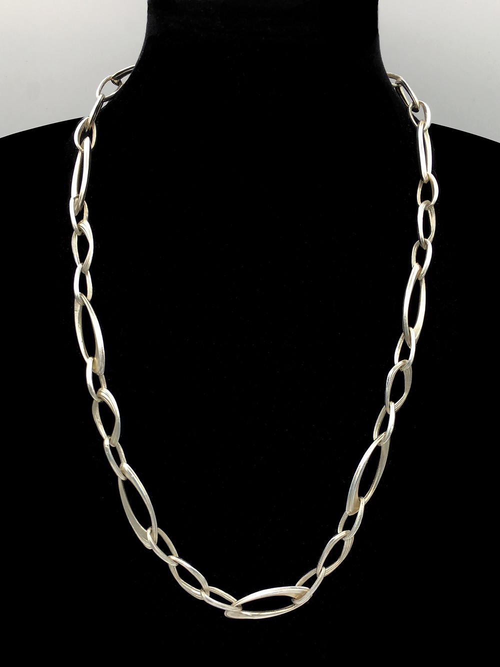 "Azores Link Necklace 22"" in Sterling Silver by Original Eve Designs"