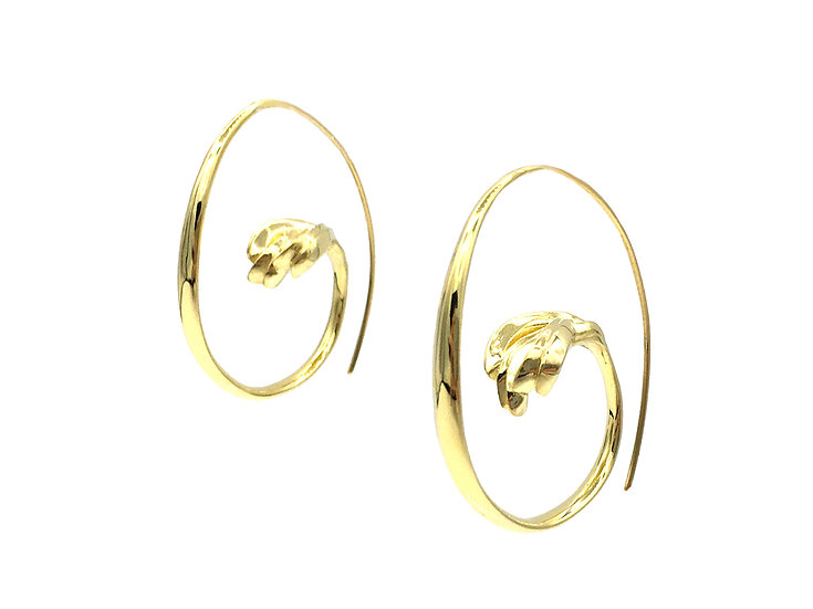 Mini Open Hoop Earrings in 18k Recycled Yellow Gold 1 inch Diameter