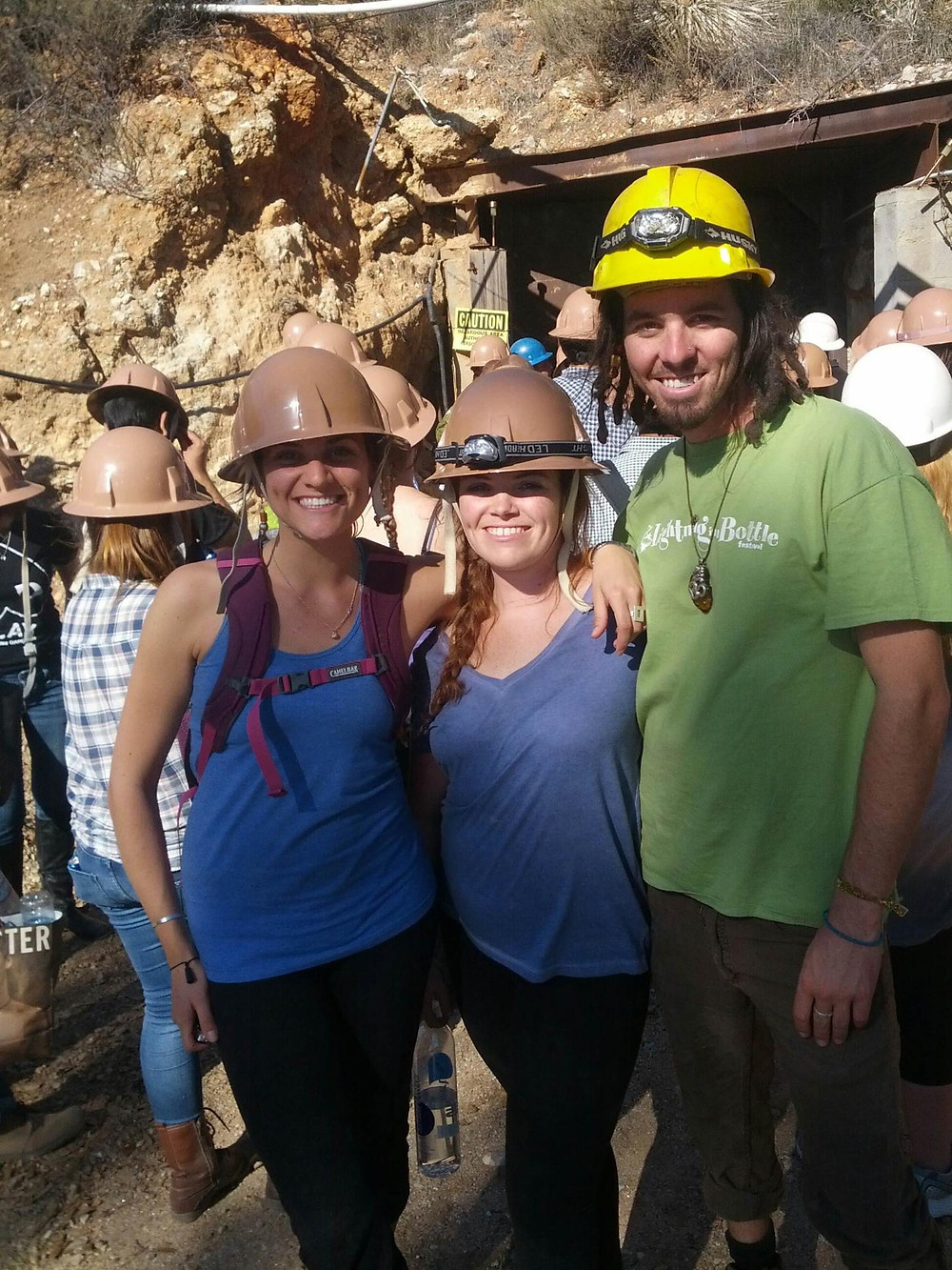 Original Eve with Fellow GIA Students, Exploring the Mines