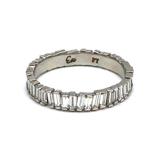 Bespoke Zig-Zag Diamond Baguette Wedding Band in Platinum