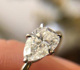 Custom Pear Shaped Diamond Engagement Ring