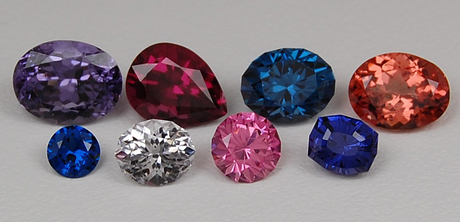 Spinel Colors on Original Eve Jewelry Gemstones (photo: GIA)